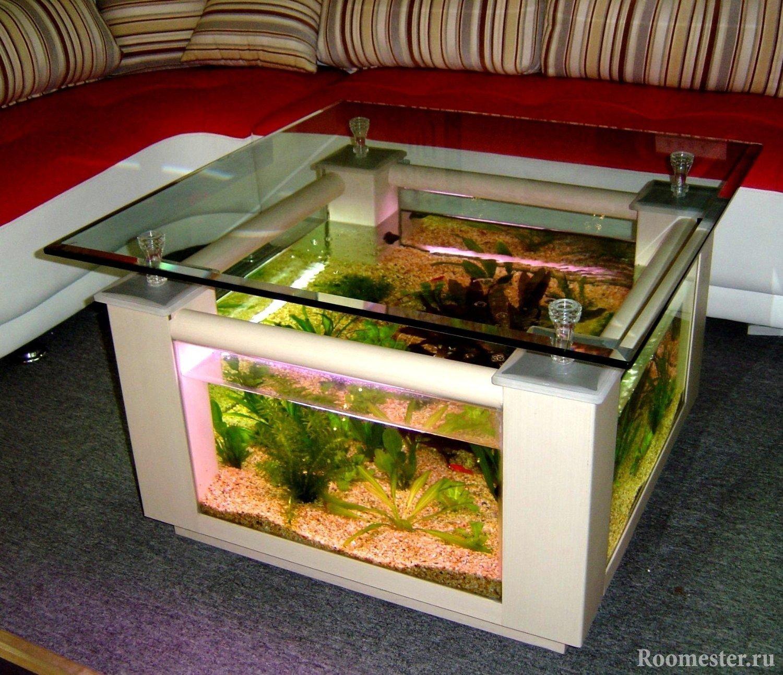 Журнальный столик-аквариум