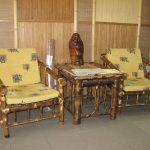 Столик и кресла из бамбука