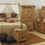 Мебель из бамбука в спальне