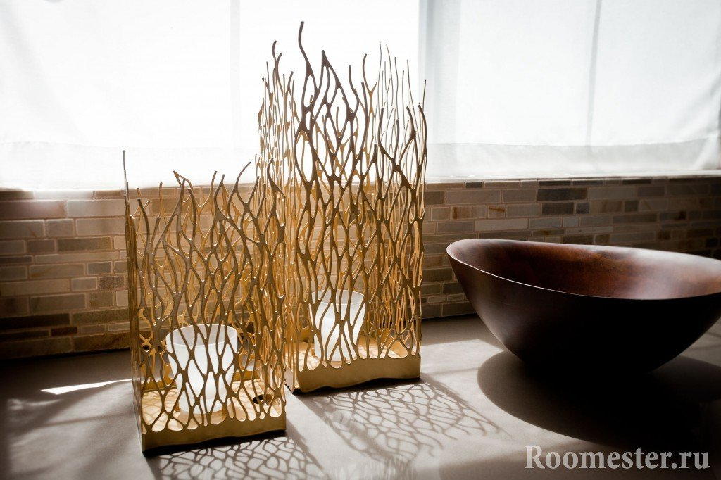 Вазы из бамбука
