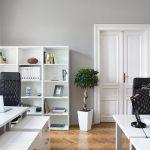 Кабинет с белой мебелью