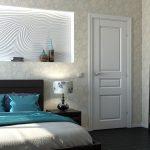 Полка в стене над кроватью