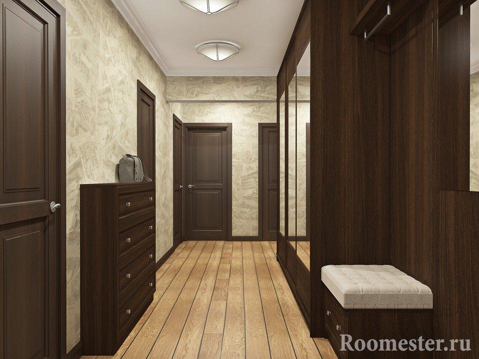 Двери и мебель с одинаковым дизайном