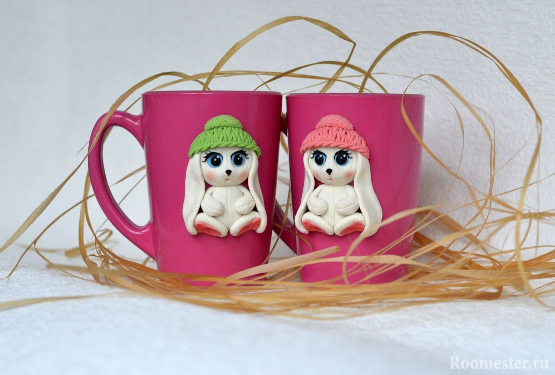 Чашки с зайками