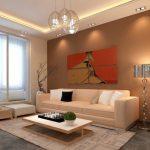Модульная картина над диваном