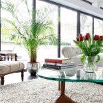 Кресло и цветок у окна