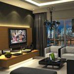 Строгий дизайн гостиной