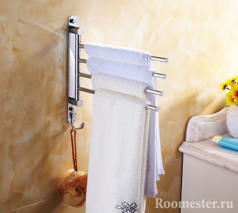 Towel holder on the wall