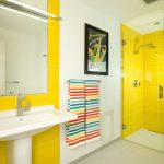 Yellow in the bathroom
