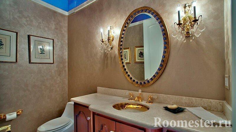 Зеркало над раковиной