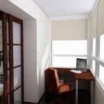 Спокойный дизайн балкона