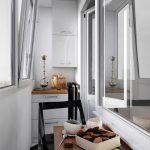 Балкон с кухонной мебелью