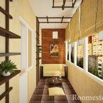 Красивый интерьер балкона