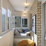 Подвесные люстры на балконе