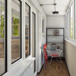Автомобильные мотивы в дизайне балкона