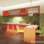 Узоры на стене кухни