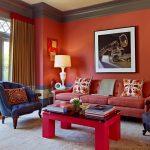 Сочетание разных цветов в гостиной