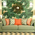 Зеленый цвет в гостиной