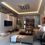 Гостиная с современным дизайном