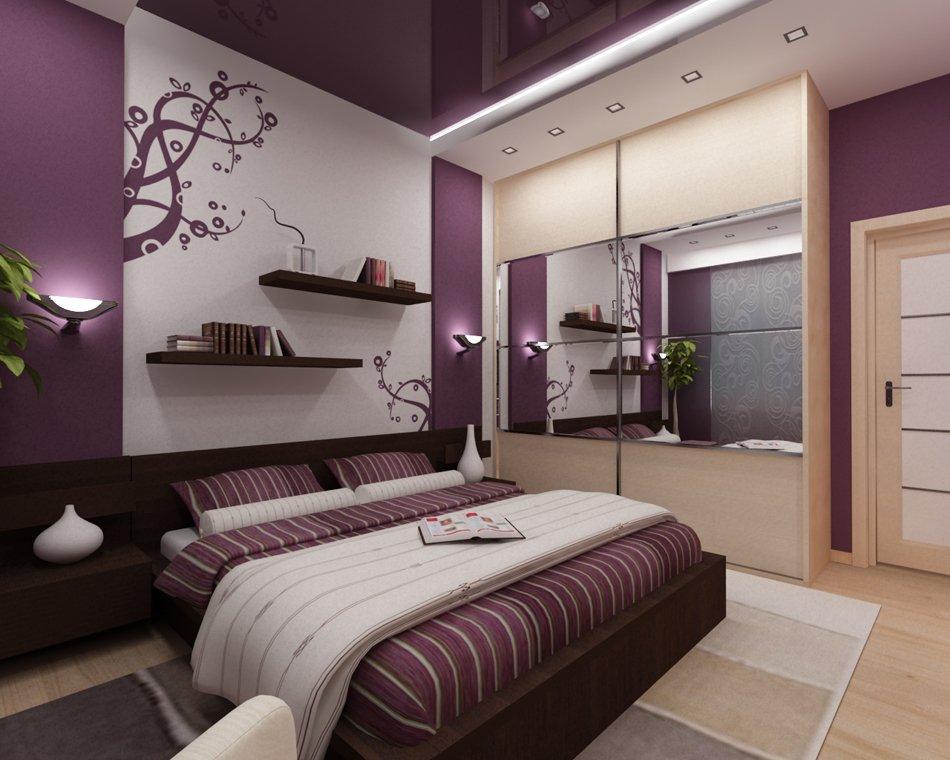 Полки на стене над кроватью