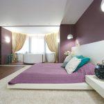 Оригинальные люстры в интерьере спальни