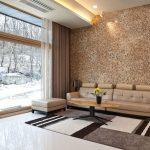 Мозаика на стене в интерьере
