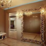 Интерьер с красивым зеркалом