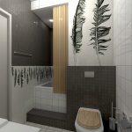 Интерьер ванной с узорами