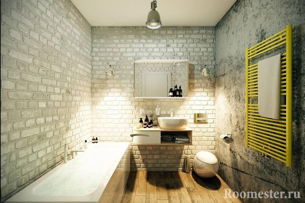 Интерьер ванной в стиле лофт
