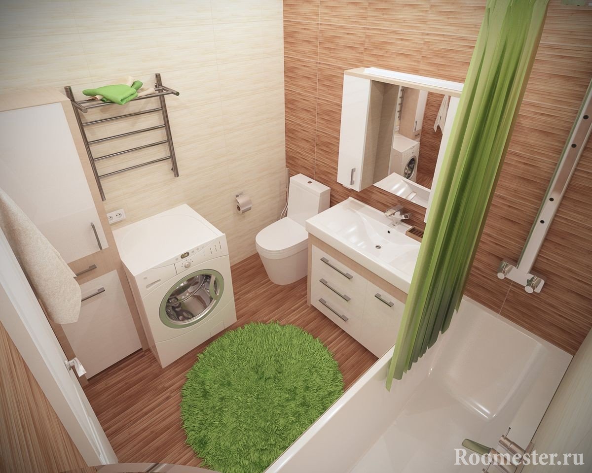 Красивый дизайн ванной комнаты 5 кв м