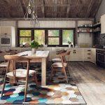 Просторная кухня в стиле фьюжн