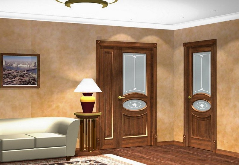 Одинаковые двери в гостиной