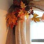 Осенний декор на шторе
