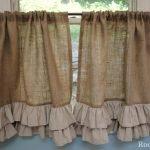 Занавески из мешковины и ткани