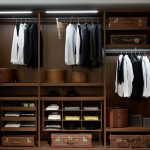 Мужской интерьер гардеробной