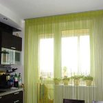 Желтые шторы на кухне