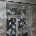 Занавеска из снежинок