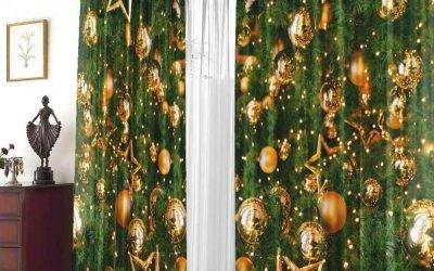 Новогодние шторы и идеи украшения окна
