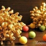 Новогоднее украшение из макарон