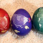 Звери на пасхальных яйцах