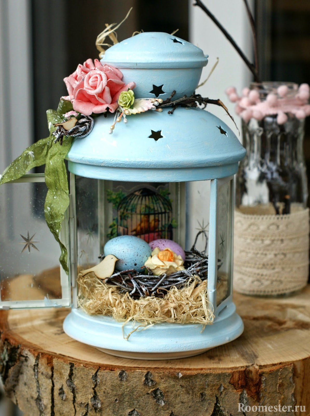 Светильник с пасхальными яйцами
