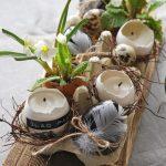Интересный декор с пасхальными яйцами