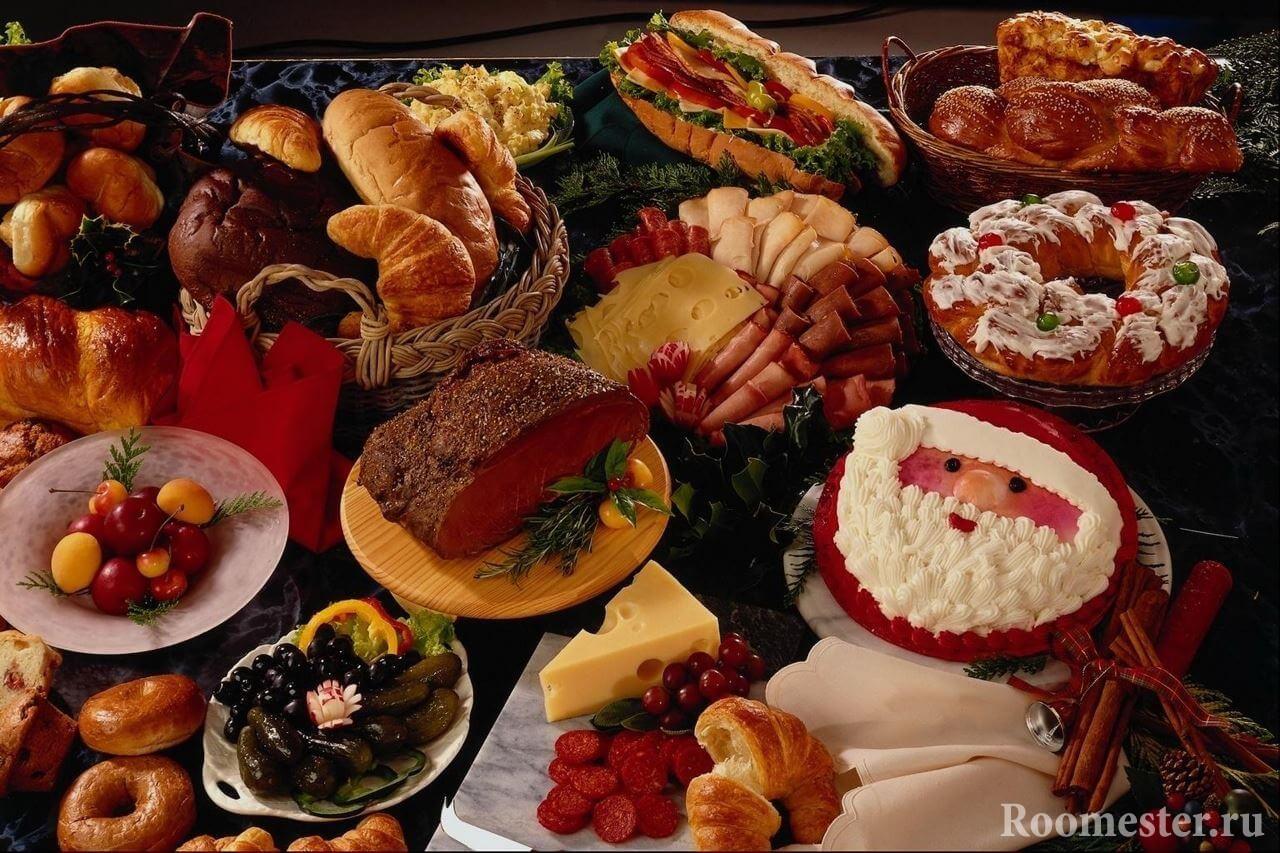 Вариант сервировки стола к новому году