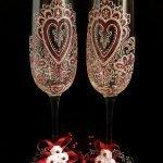 Свадебные бокалы с узорами