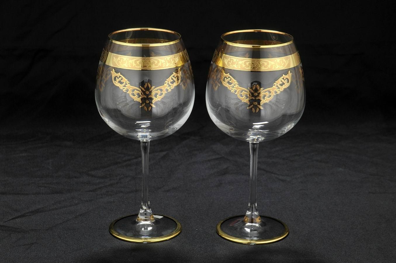 Свадебные бокалы с позолотой
