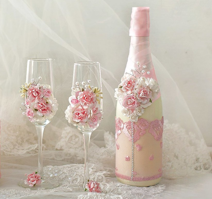 dekor-svadebnyh-bokalov Декор стаканов: эффект мрамора