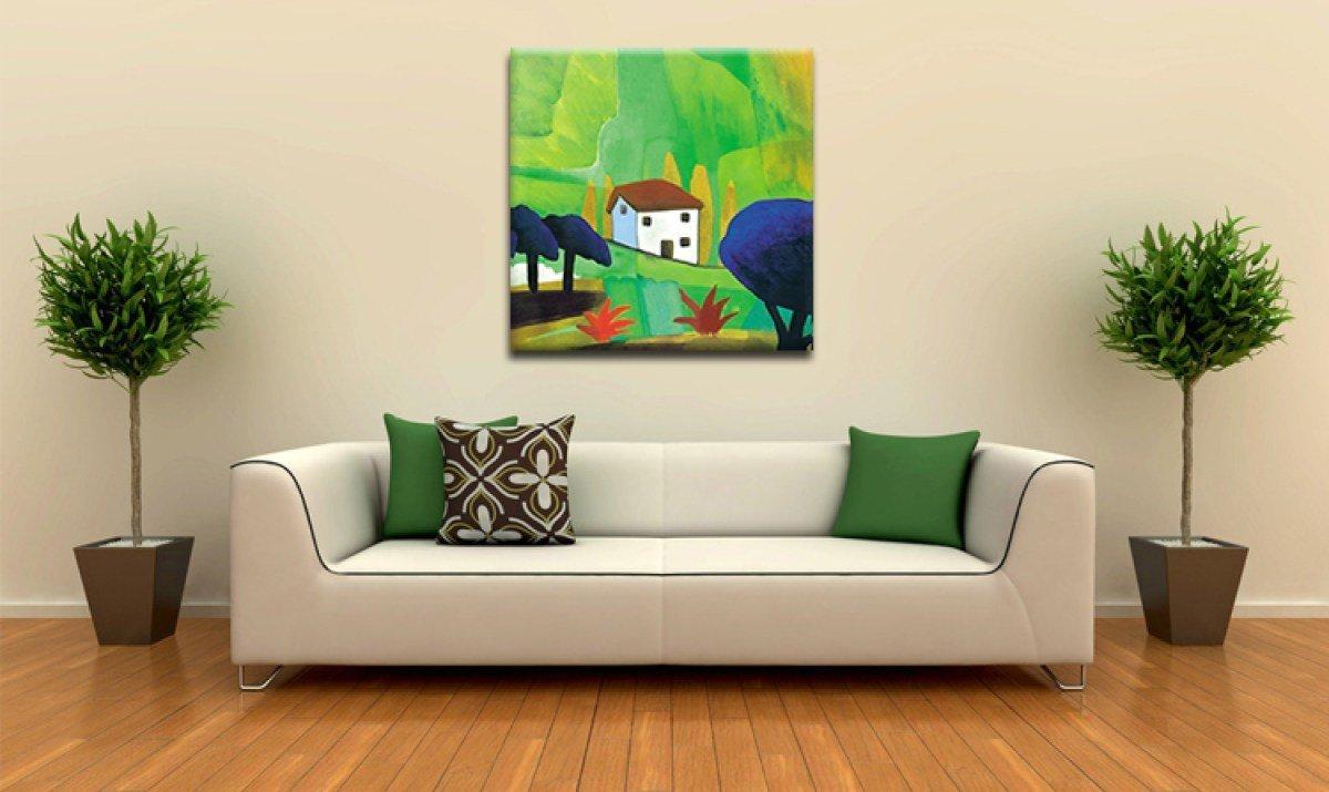 Однотонный диван в интерьере