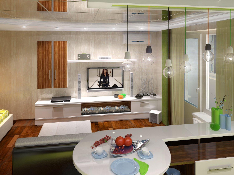 проекты кухня гостиная в панельном доме фото цвет слоновой кости