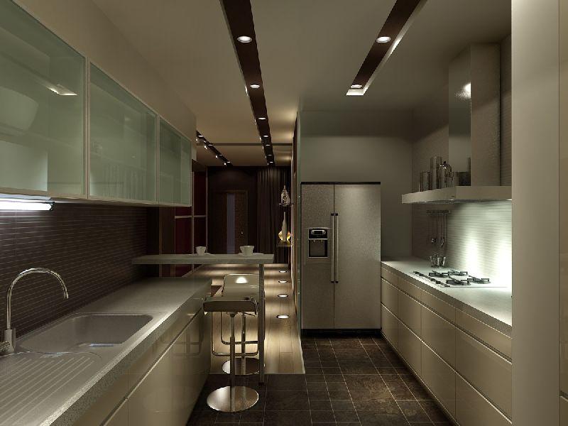 Параллельная планировка кухни студии