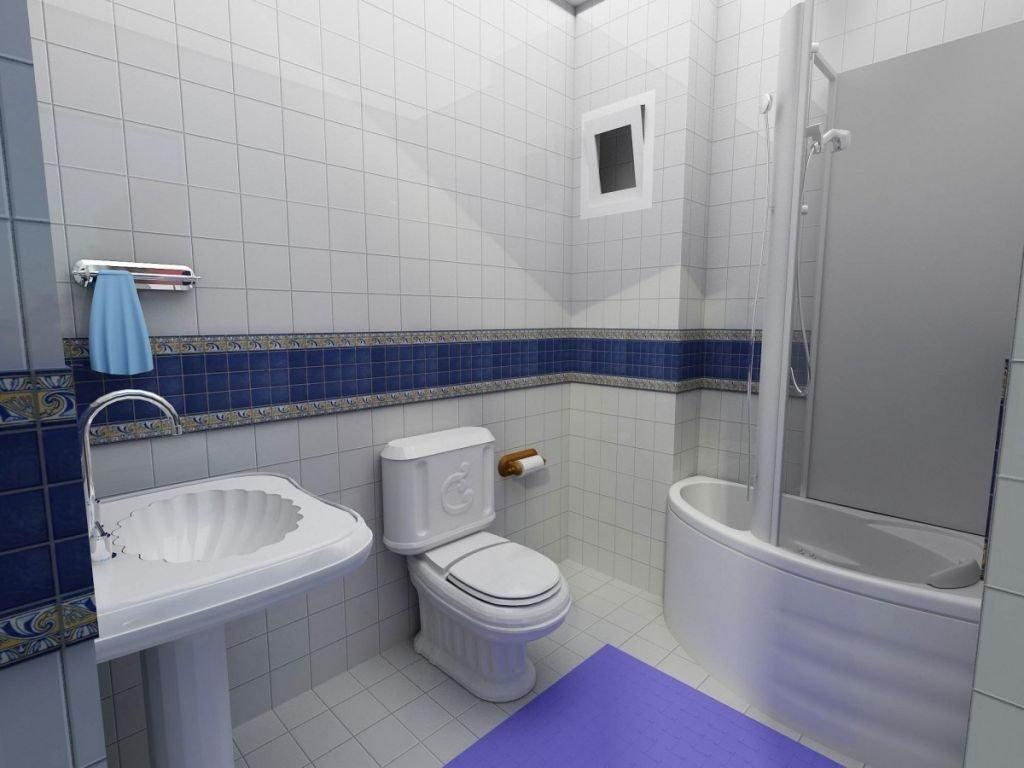Ванная комната в квартире 50 кв м